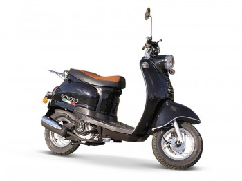 BENERO CITY CRUISER 50ccm RETRO ROLLER SCHWARZ METALLIC