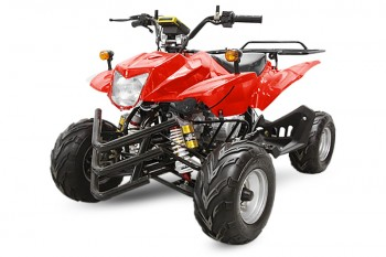QUAD 50ccm CRUSHER 45kmh mit Straßenzulassung ab 16 Red Metallic