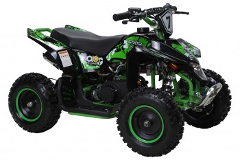 Kinder Miniquad Fox XTR PREMIUM 50ccm E-Start - Tuning Engine - Schwarz/Grun