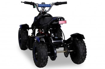 Mini Elektro Kinder ATV Cobra 800 Watt Pocket Quad - Schwarz/Blau