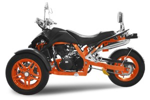 TRIKE 350ccm SPY PRIMETRIKE F1 350 30PS-120kmh Matt Black / Orange