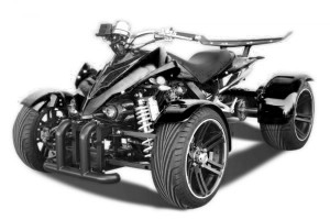 QUAD 350ccm SPY SPYDER F1 350 30PS-120kmh BLACK on BLACK