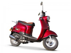 BENERO CITY CRUISER 50ccm RETRO ROLLER ROT METALLIC