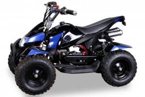 Mini Kinder ATV Quad Cobra 50ccm Pocketquad 2-takt Quad - Schwarz/Blau