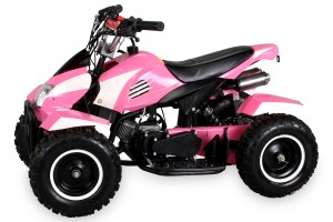 Mini Kinder ATV Quad Cobra 50ccm Pocketquad 2-takt Quad - Pink/Weiss