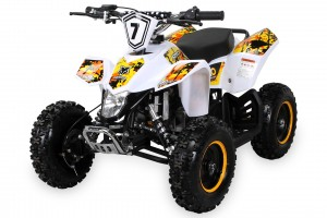 Kinder Miniquad Fox XTR PREMIUM 50ccm E-Start - Tuning Engine - Weiss/Gelb