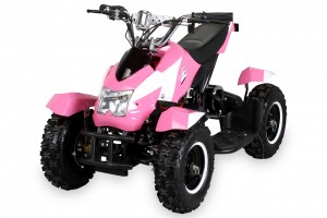 Mini Elektro Kinder ATV Cobra 800 Watt Pocket Quad - Pink/Weiss