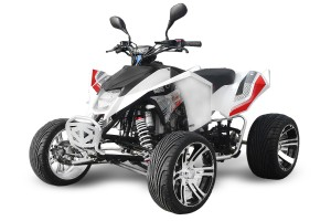 QUAD 300ccm MADMAX RACING WEISS-ROT