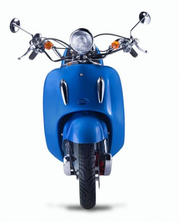 Techno Classic 2.0 125 blau - inkl. Top Case - Sitz: Braun