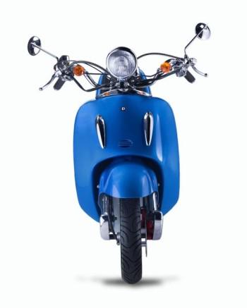 Techno Classic 2.0 125 Blau - inkl. Top Case - Sitz: schwarz