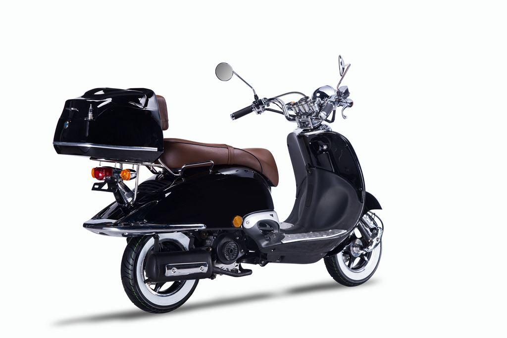 motorroller techno classic retro roller schwarz mit. Black Bedroom Furniture Sets. Home Design Ideas