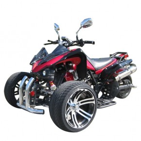 TRIKE QUAD 250ccm Speedtrike carbon Optik mit Straßenzulassung ROT