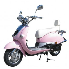 ZNEN RETRO ROLLER SCOOTER 50ccm PINK