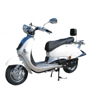ZNEN RETRO ROLLER SCOOTER 50ccm WEISS